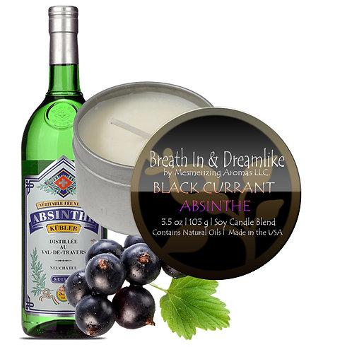 3.5 oz Black Currant Absinthe Travel Candle