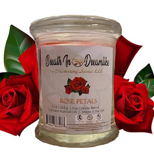 9 oz Rose Petals Novelty Candle