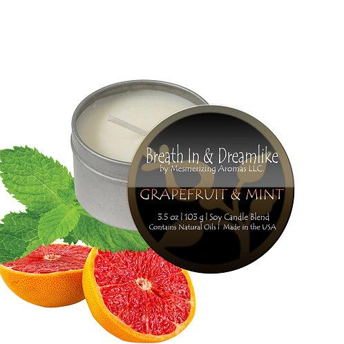 3.5 oz Grapefruit & Mint Travel Candle