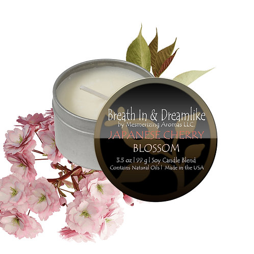 3.5 oz Japanese Cherry Blossom Travel Candle