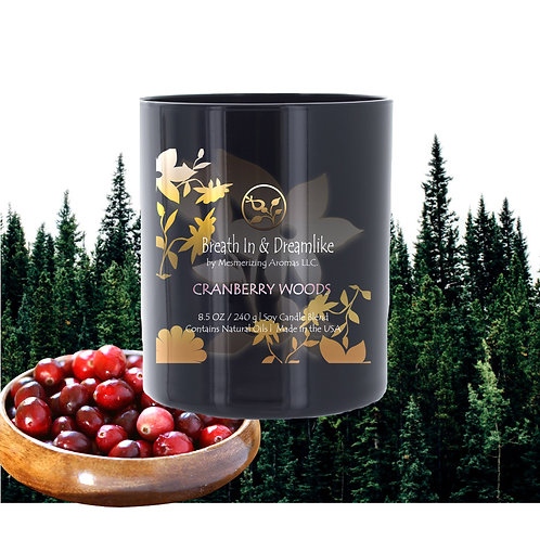 8.5 oz Cranberry Woods Candle