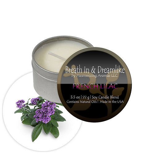3.5 oz French Lilac Travel Candle