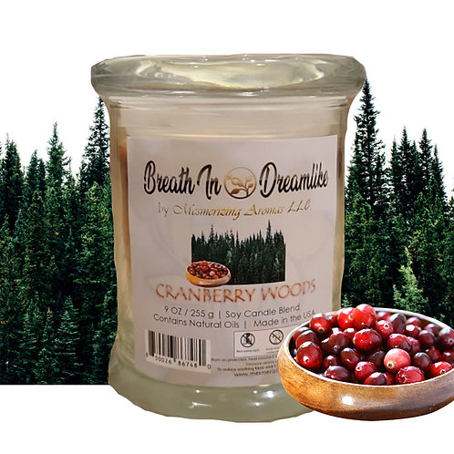 9 oz Cranberry Woods Novelty Candle
