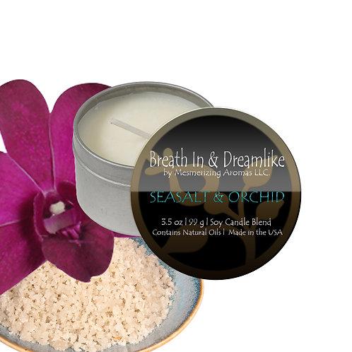 3.5 oz Sea Salt & Orchid Travel Candle