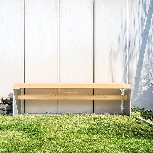 Gartenbank BEN, Lärche, Aluminium