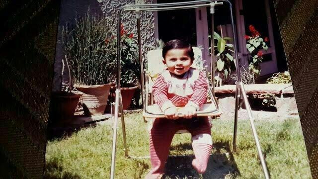 Baby anirudh in a swing.JPG