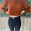Thumbnail: Cropped rust sweater