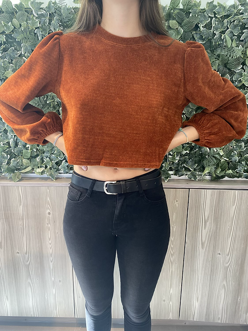 Cropped rust sweater
