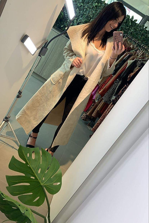 White velvet coat