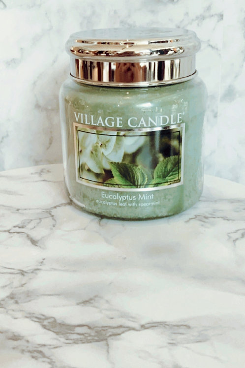 Village Candle - Eucalyptus Mint (Medium)