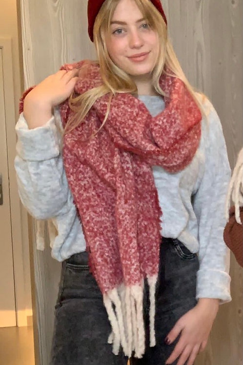 Very Soft Faded Red Scarf