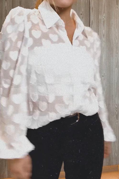White heart blouse