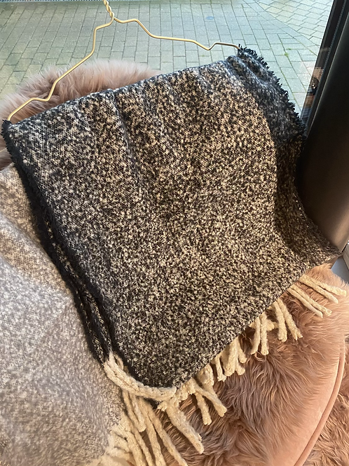 Very Soft Faded Black Scarf