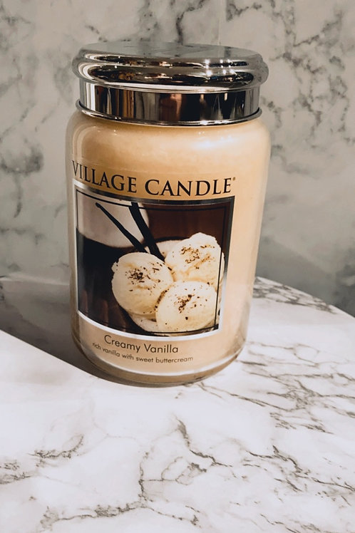 Village-candle creamy vanilla (large)