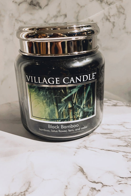 Village candle - black bamboo