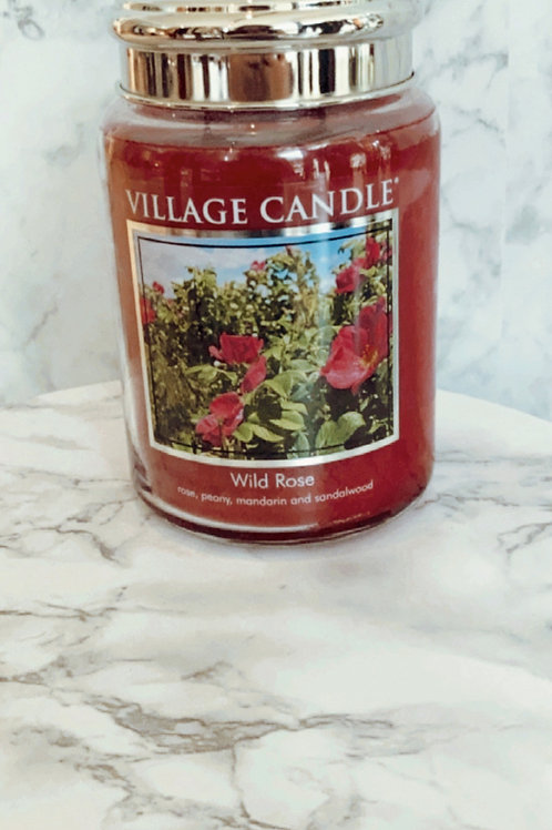 Village Candle - Wild Rose ( Large )