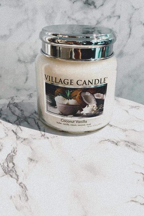 Village Candle-Coconut Vanilla (Medium)
