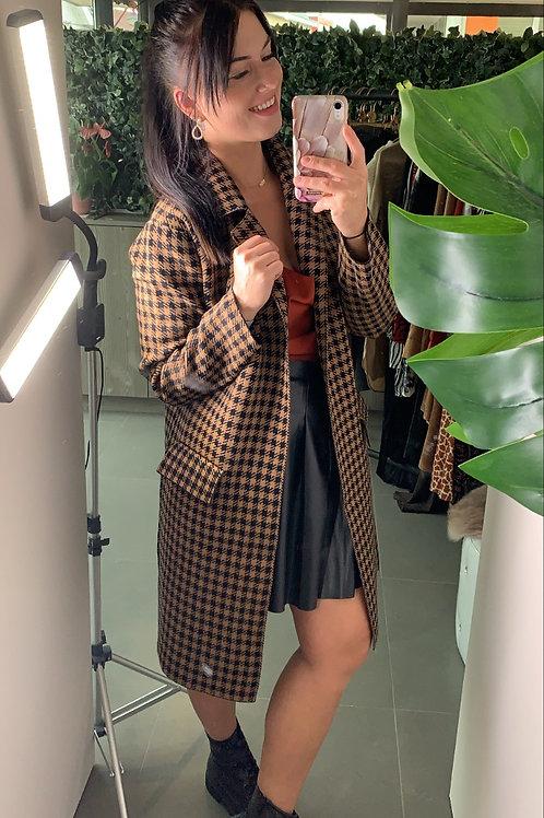 Pied de poule jacket brown