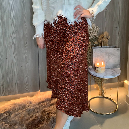 Leopard rust skirt