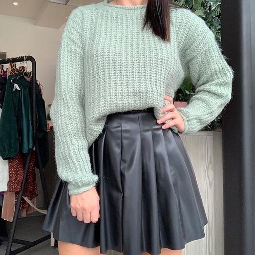 Green knit sweather