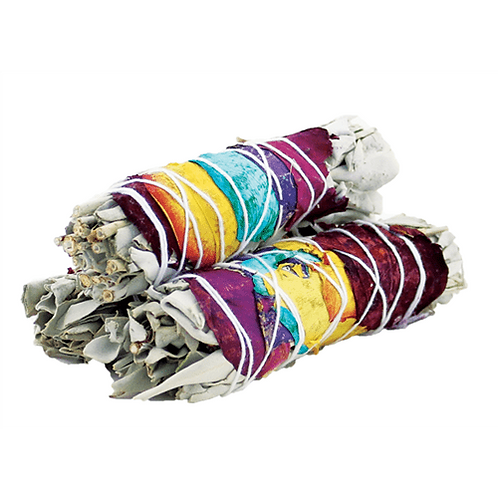 7 Chakra white sage smudge stick