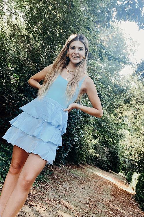 Mermaid blue skirt