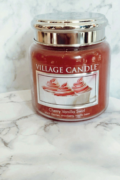 Village Candle - Cherry Vanilla Swirl (Medium)