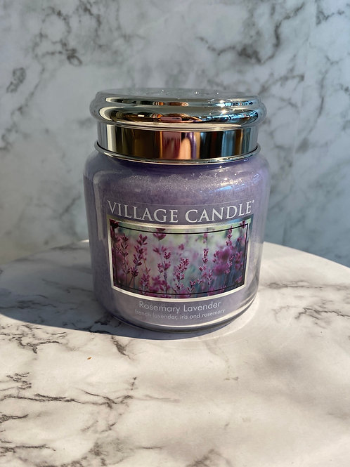Village Candle- Rosemary Lavender (MEDIUM)