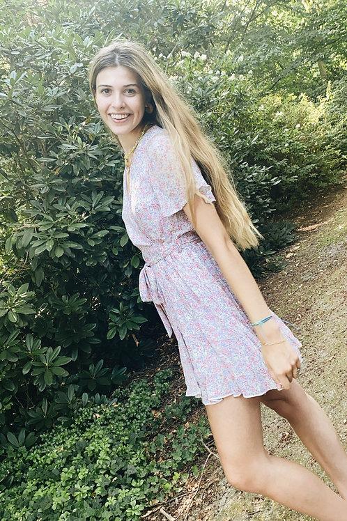 Lilac short flower dress