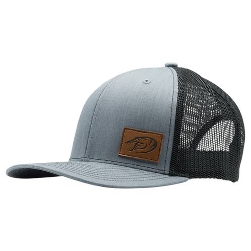 Leather Patch Hat - Grey