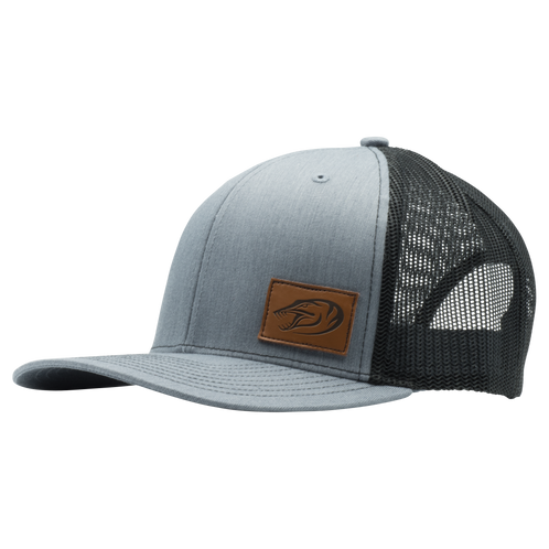 5311f1c168edaf Richardson 112 - Gray with Leather Phantom Fish Head Logo patch. Mesh  backing. Very durable and comfortable for those long days on the water.  Snap back.