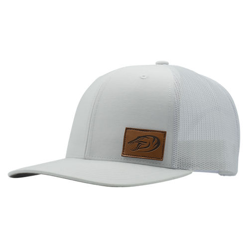 Leather Patch Hat - White