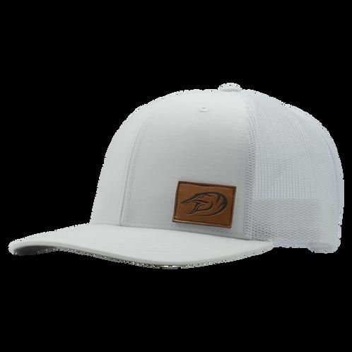 3d89edb1ff610f Leather Patch Hat - White