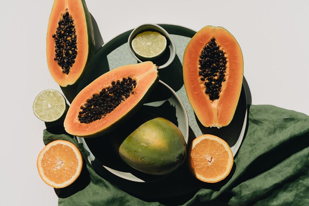 CLOVE AND HALLOW papaya dull skin DIY facial mask