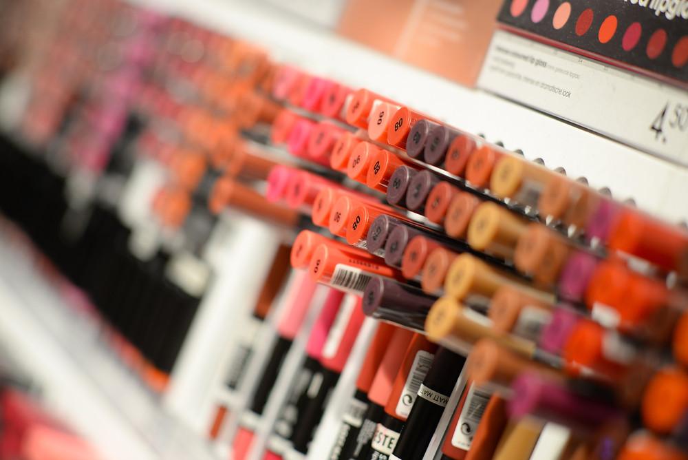 Makeup aisle drugstore