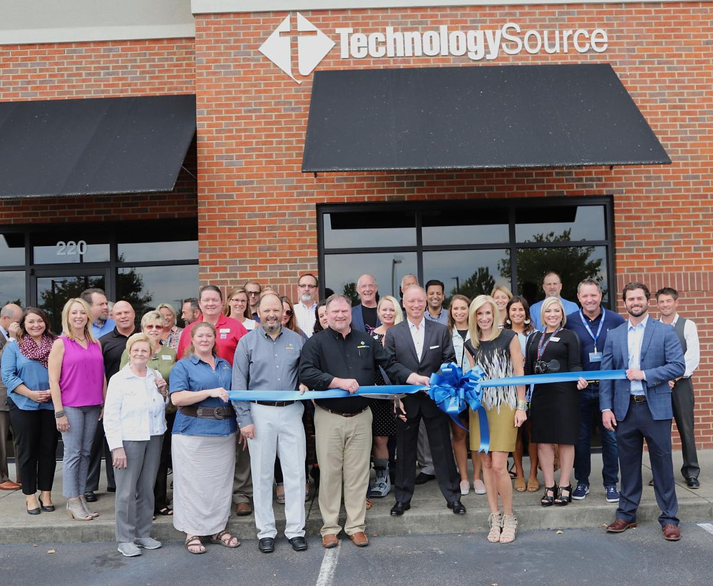 Technology Source celebrated its new branding at a ribbon cutting on Thursday.