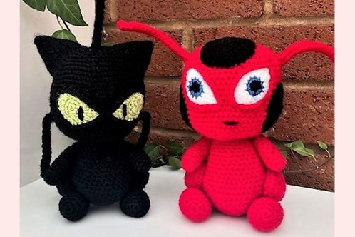 Tikki and Plagg Crochet Pattern - Unofficial