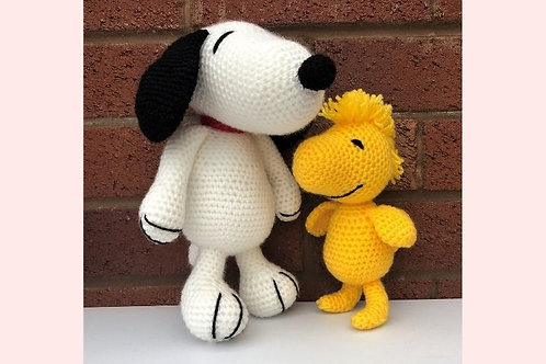 Classic Dog and Birdie Crochet Pattern