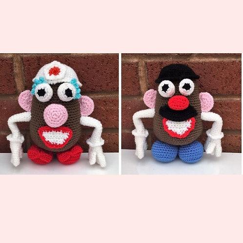 Mr and Mrs Potato Head Crochet Pattern - Unofficial