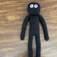 Slenderman Crochet Doll