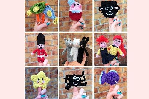 Nursery Rhyme Finger Puppets Crochet Pattern