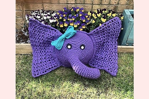 Jumbo Elephant Pillow Crochet Pattern