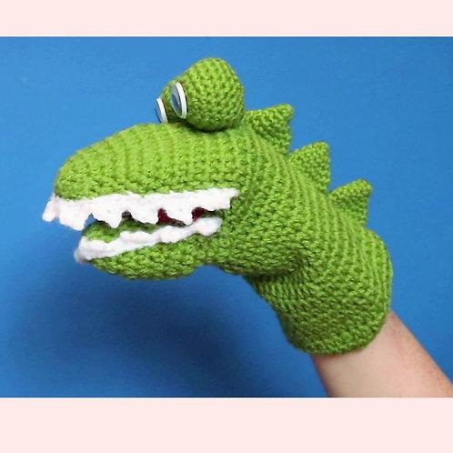 Crocodile Hand Puppet Crochet Pattern