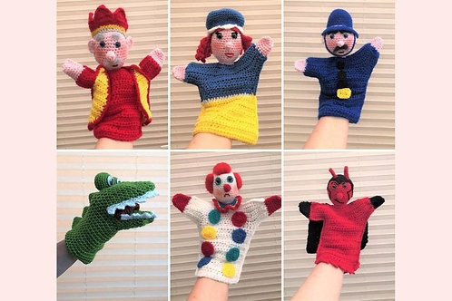 Punch and Judy Hand Puppets - Crochet Pattern