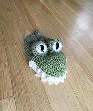 Crochet Crocodile Hand Puppet
