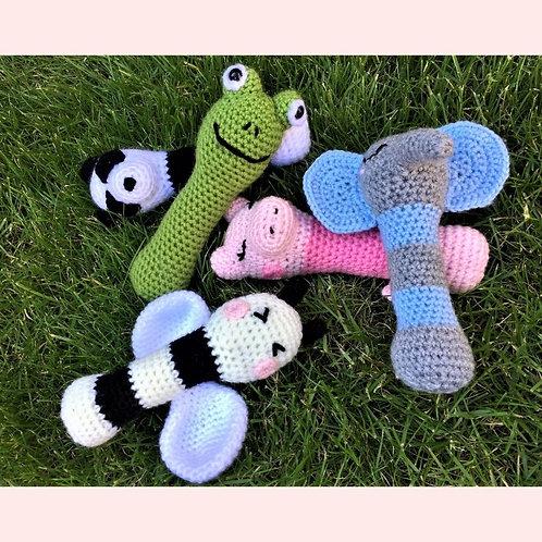 Animal Baby Rattles Crochet Pattern