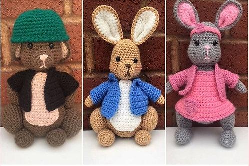 Peter Rabbit and Friends Crochet Pattern - Unofficial