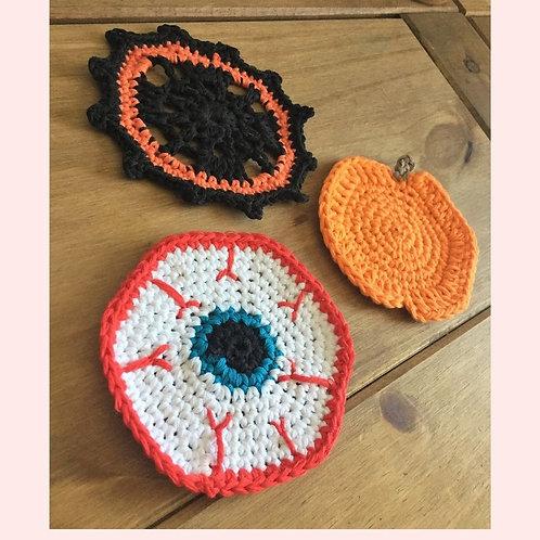 Halloween Coasters Crochet Patterns