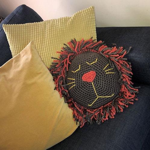 Lion Pillow Crochet Pattern