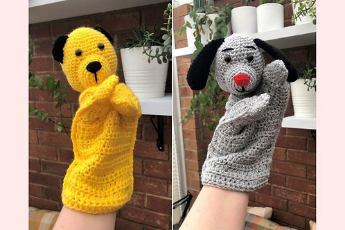 Sooty and Sweep Hand Puppet Crochet Pattern